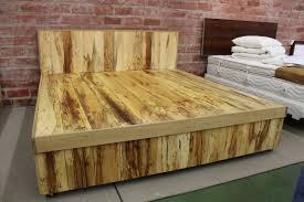 Pine Platform Bed With Headboard Diy California King Bed Frame Pine U2014 King Beds Comfortable Diy