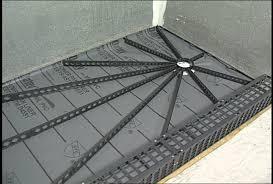 a shower base kit makes tile shower installation and easy