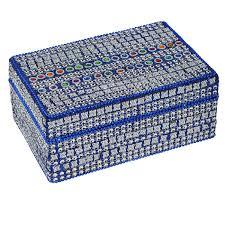 best gift idea blue decorative jewelry box amazon co uk kitchen