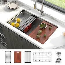 bowl kitchen sink for 30 inch cabinet sinber 30 undermount 16 single bowl stainless steel kitchen sink
