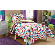 Turquoise Chevron Bedding Mainstays 5pc Twin Microfiber Kids Chevron Bedding Comforter Set