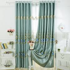 Curtains Floral Faux Silk Embroidered Curtains Are Generous And Elegant