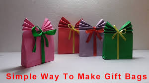 present bags simple christmas gift bags origami