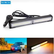 cob led light bar tak wai lee 29cm 40w cob led strobe flash warning car light bar 14