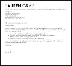 teacher 39 s aide cover letter example teacher aide cover letter