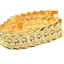 new arrival fashion 24k gp gold plated mens women jewelry happy2girls wrist chain 24k gold plated noble men s
