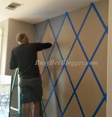 painting livingroom diy how to paint a pattern on living room wall