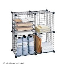 Stackable Wire Shelves by Wire Cubes Safco Products