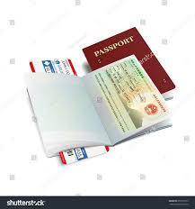 bitmap international passport canada visa stock illustration