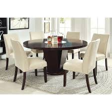 7 piece dining room table sets furniture of america vessice round pedestal dining table espresso