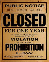 prohibition poster reproduction home decor print wall art bar