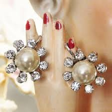 50s earrings best rhinestone button earrings products on wanelo