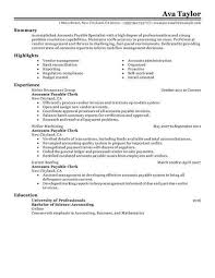 accounts payable resume exles best accounts payable specialist resume exle livecareer