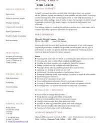 Leadership Resume Template Team Leader Resume Exle 100 Images Resume For Project