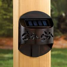 solar deck accent lights decks com leaf solar accent rail light for decks