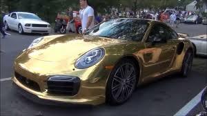 gold porsche 911 wrapped gold porsche 911 turbo s