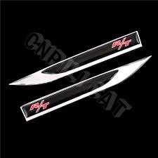 logo dodge challenger 2pcs r t logo car body side fender knife emblem stickers for dodge