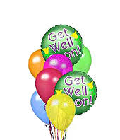 get well soon balloons same day delivery the ftd get well balloon bunch at from you flowers