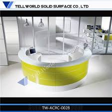 Circular Reception Desk 2015 Tw High Gloss Solid Surface Build A Reception Desk Circular