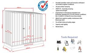 Absco Awning Absco Spacesaver 7x3 Tool Shed Cc23081sk On Sale Now