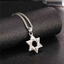 long black pendant necklace images Star of david pendant necklace gold silver rose gold black jpg