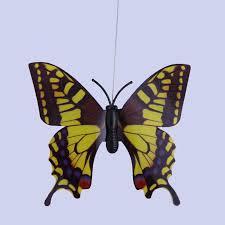 vibration flying butterfly solar powered garden decor