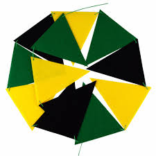 Green Yellow And Black Flag Black Green Yellow Banner Nursery Flags Bunting Garland For