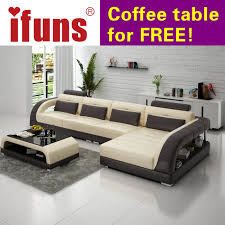 ifuns new classical white leather sofa set american style l shape