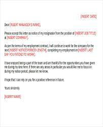 36 resignation letter template in doc free u0026 premium templates