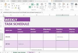 weekly task report template excel weekly task list template for excel