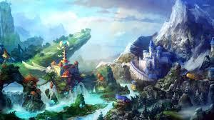 waterfall fantasy wallpapers wallpapersin4k net