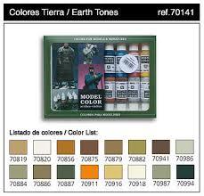 17ml bottle earth tones model color paint set 16 colors hobby