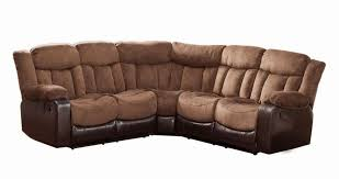 Curved Sectional Sofa With Recliner Furniture Fabulous Brown Leather Bottom Velvet Seat Curved