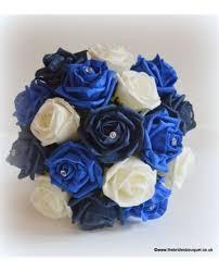Wedding Flowers Blue And White Mix Bridesmaid Posy Blue Themed Wedding Flowers