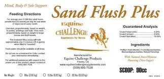 Water Challenge Directions Equine Challenge Sand Flush Plus Psyllium Supplement