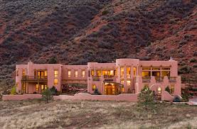 adobe style with recessed lighting exterior southwestern and oil