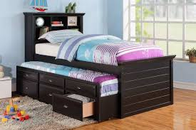 brown color queen bed with trundle underneath u2014 loft bed design