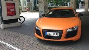 Audi R8 Matte - spotted matte orange audi r8 v8 am rudolfplatz cars