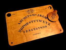 wooden ouija board set with planchette antique kennard