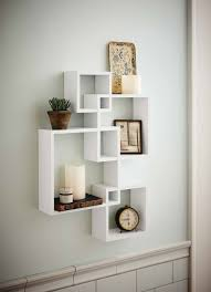 How To Decorate Floating Shelves Amazon Com Generic Intersecting Squares Wall Shelf Decorative