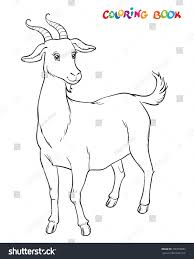 goat be colored coloring book kids stock vector 706759687