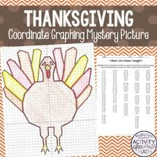 thanksgiving math turkey coordinate graphing mystery picture tpt