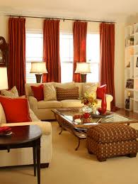 gold and red living room with puzzle shelving metropolitan