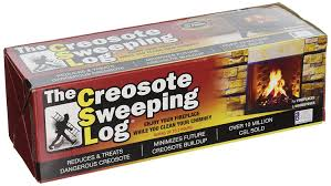 amazon com creosote sweeping log for fireplaces 1 pack home
