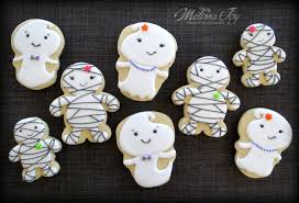 Halloween Mummy Cakes Easy Ghost And Mummy Cookies For Halloween Melissa Joy Cookies