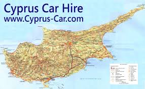map of cyprus cyprus road map car hire in cyprus
