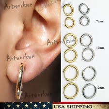 s mens earrings unbranded stainless steel hoop earrings studs for men ebay