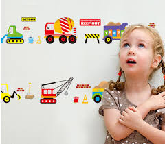 aliexpress com buy construction vehicles wall decals working aliexpress com buy construction vehicles wall decals working forklift mixer truck excavator crane truck wall stickers for kids babies infant room from
