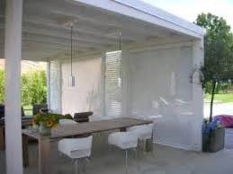 Track Guided Outdoor Blinds Outdoor Blinds White Finger