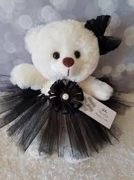 flower girl teddy gift flower girl gift teddy in black tutu dress color the lovely